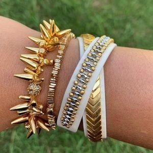 :: S&D Gilded Path Double Wrap Bracelet
